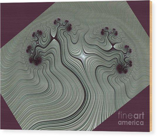 Wood Print featuring the digital art Vrksasana by Vix Edwards