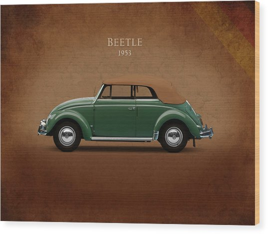 Vw Beetle 1953 Wood Print