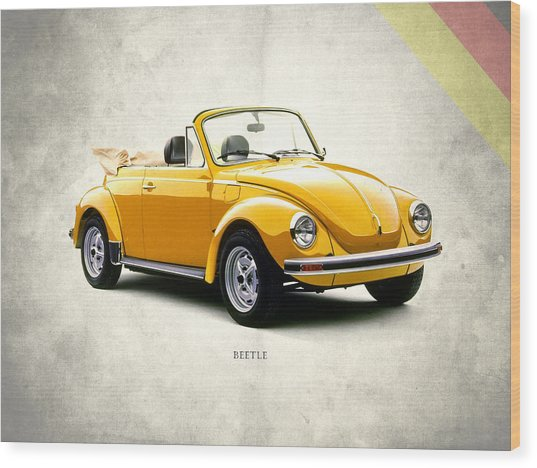 Vw Beetle 1972 Wood Print