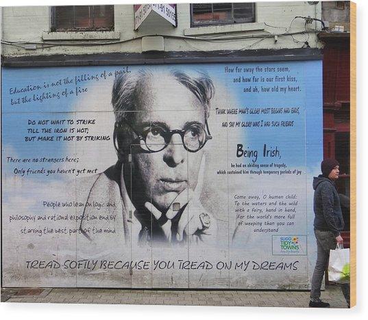 W B Yeats - Shop Front - Sligo Wood Print