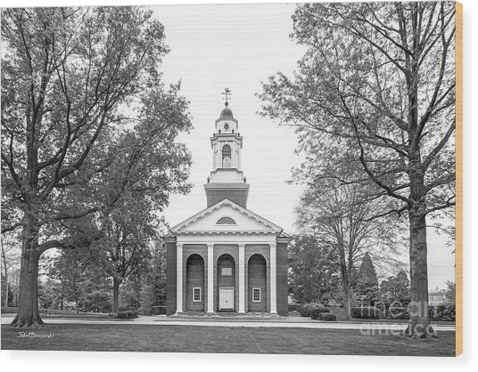 Wabash College Chapel Wood Print