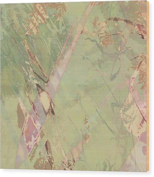 Wabi Sabi Ikebana Revisited Shabby 3 Wood Print
