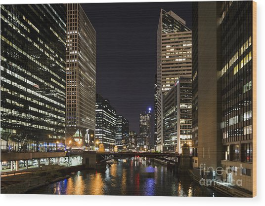 Wacker Avenue Wood Print