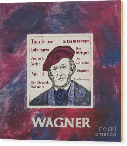 Wagner Portrait Wood Print by Paul Helm