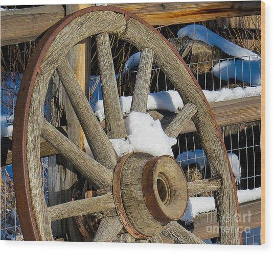 Wagon Wheel 1 Wood Print