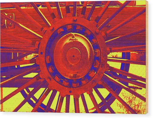 Wagon Wheel Wood Print