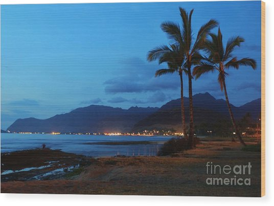 Waianae Night Wood Print