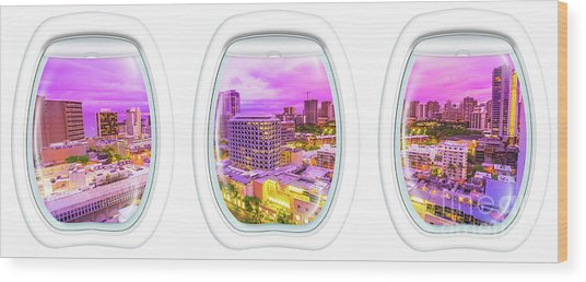 Waikiki Porthole Windows Wood Print