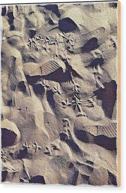 Waikiki Sand Wood Print
