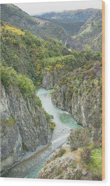 Waimakariri Gorge Wood Print