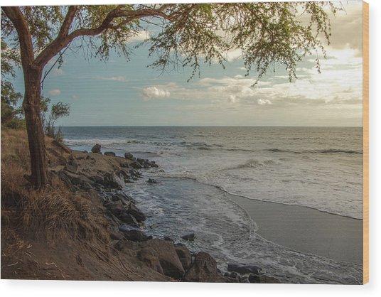Waimea Bay Sunset Wood Print