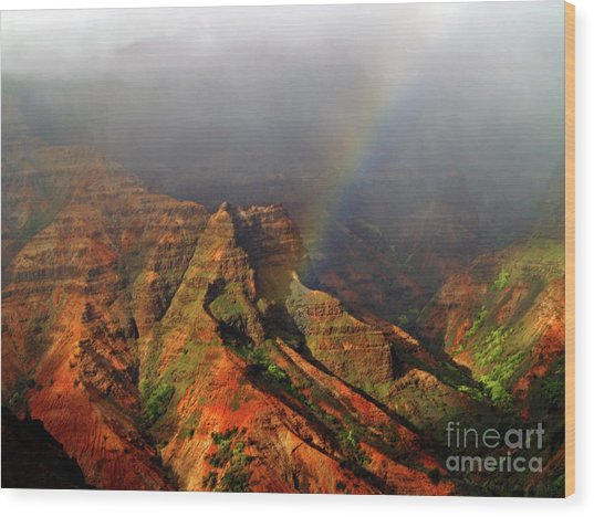 Waimea Canyon I Wood Print