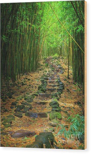 Waimoku Bamboo Forest #2 Wood Print