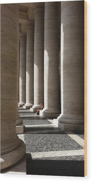 Wood Print featuring the digital art Waiting At St Peter's by Julian Perry