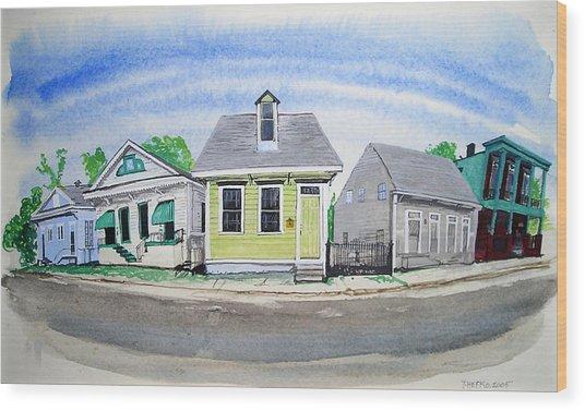 Waiting For Katrina Wood Print by Tom Hefko