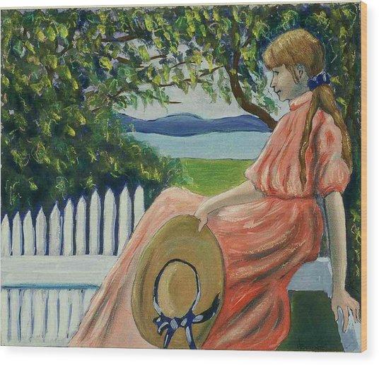 Waiting Wood Print by Helen O Hara