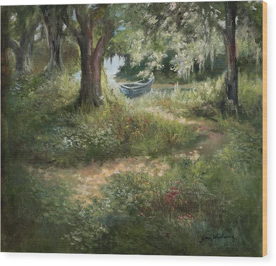Waiting Wood Print by Jane Woodward