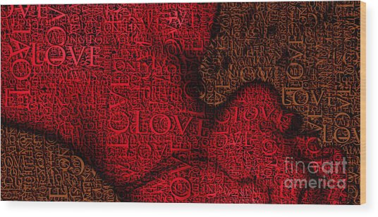 Waiting With Love Wood Print