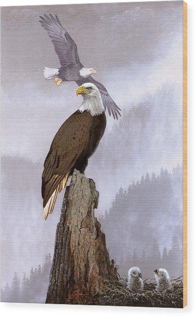 Wake Up Call Wood Print by Harold Shull