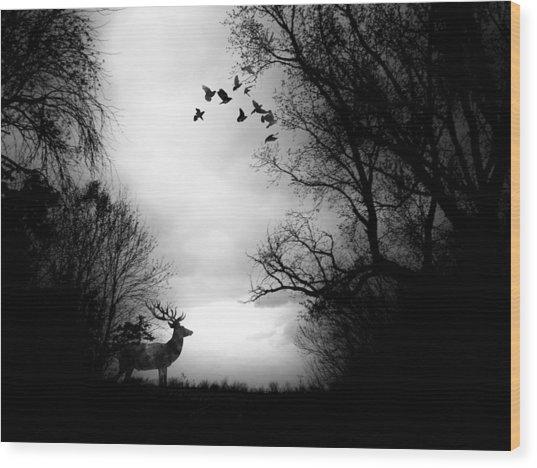 Waking From Winters Sleep Wood Print