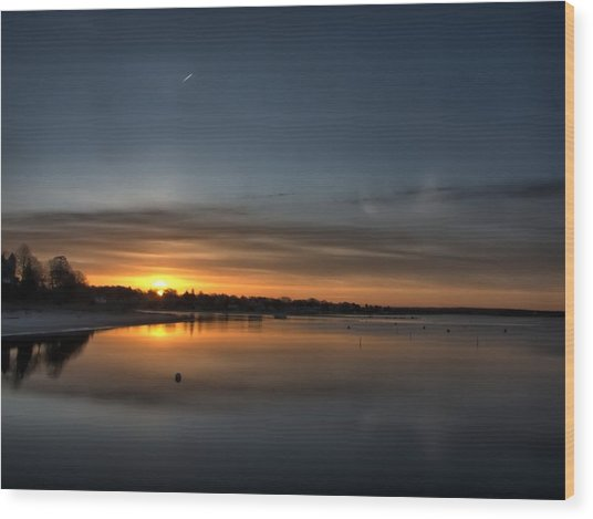 Waking To A Cold Sunrise Wood Print