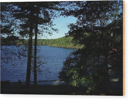 Walden Pond End Of Summer Wood Print