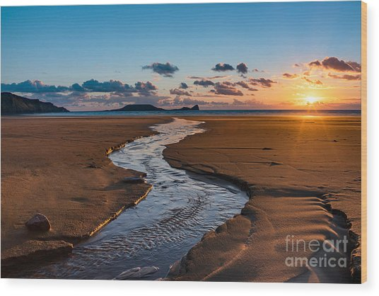 Wales Gower Coast Wood Print