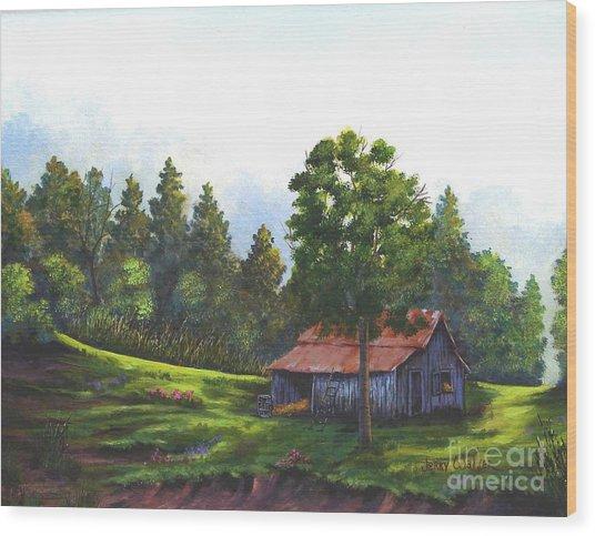 Walhalla Barn Wood Print