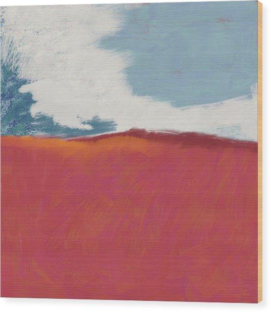Walk In The Field- Art By Linda Woods Wood Print