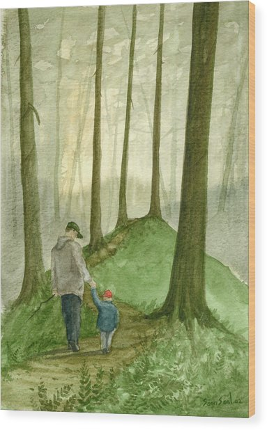 Walk In The Woods Wood Print