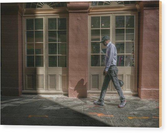Wood Print featuring the photograph Walk by Ryan Shapiro