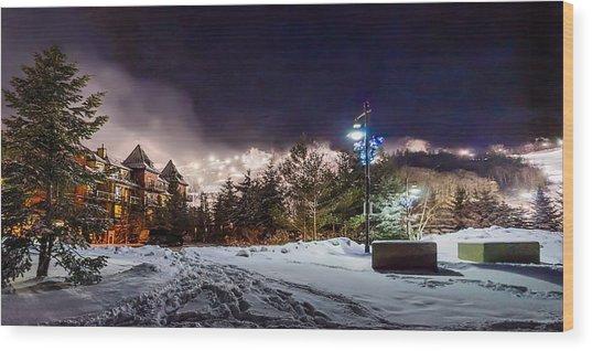 Walk To The Ski Hills Wood Print