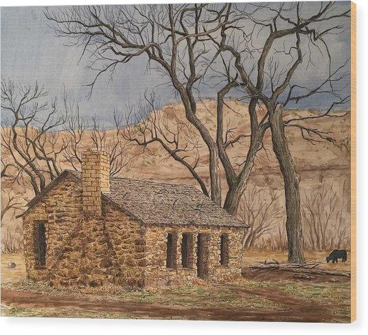 Walker Homestead In Escalante Canyon Wood Print