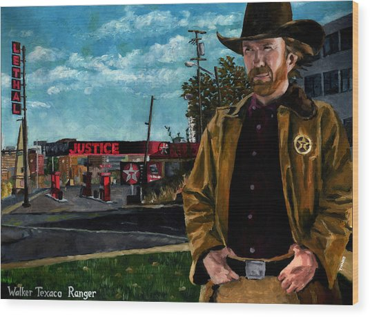 Walker Texaco Ranger Wood Print