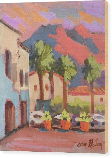 Walking Area In Old Town La Quinta Wood Print