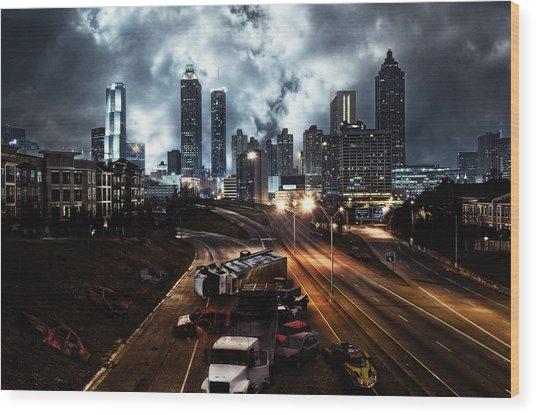 Walking Dead Tribute Downtown Atlanta Georgia  Wood Print