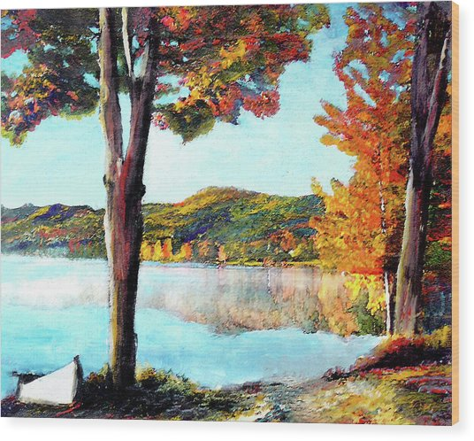 A Walk Down Lake Champlain Wood Print