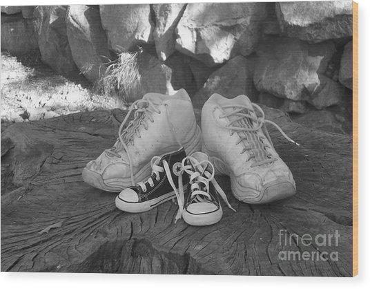 Walking In My Shoes Wood Print