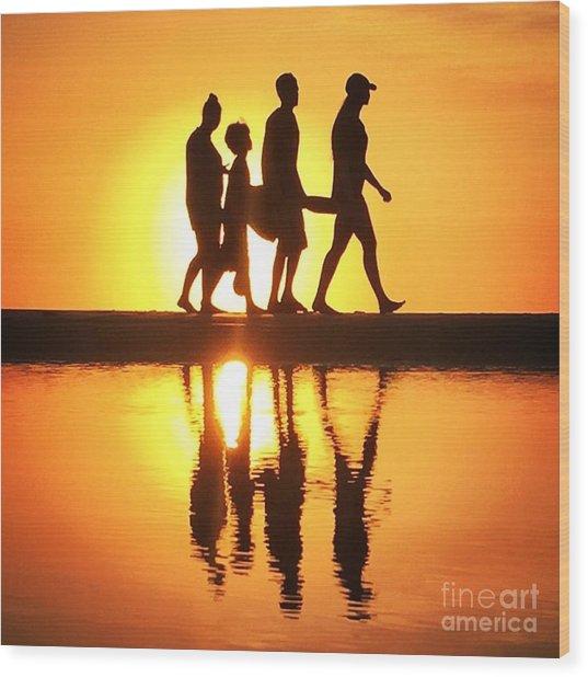 Walking On Sunshine Wood Print