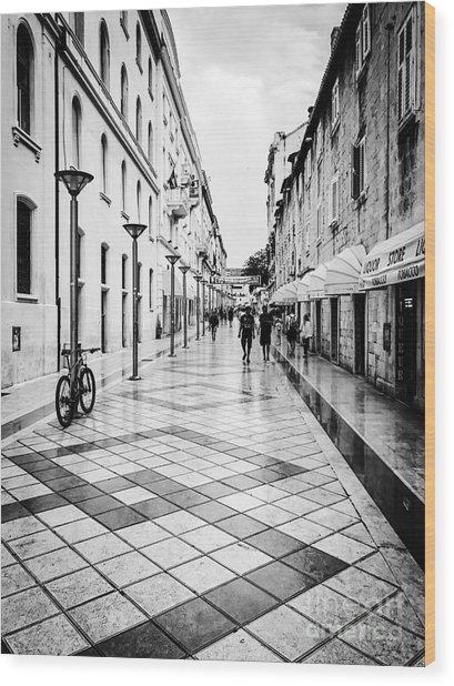 Walkways In Split, Croatia Wood Print by JMerrickMedia