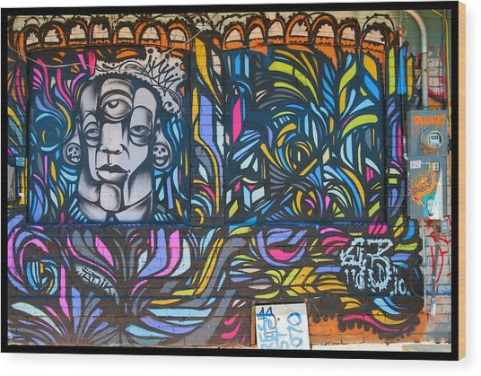 Wall And Colors Wood Print by Courtney Lively