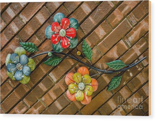 Wall Flowers Wood Print