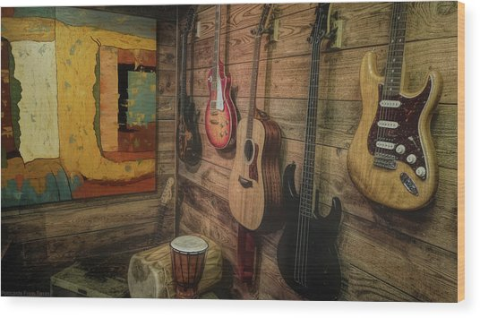 Wall Of Art And Sound Wood Print