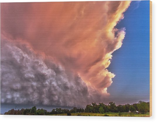 Wall Of Boiling Clouds Wood Print