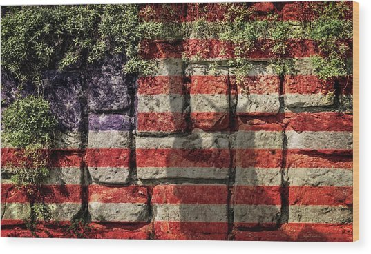 Wall Of Liberty Wood Print