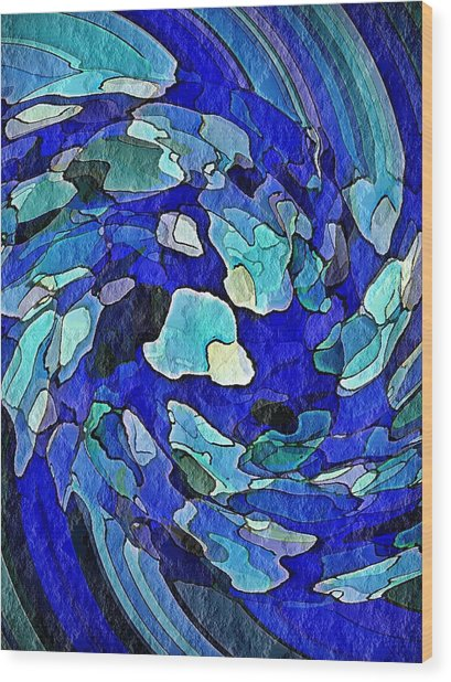 Wall Of Water Wood Print by Terry Mulligan