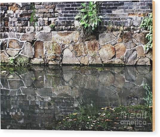Wall Reflection Wood Print by Kathy Daxon