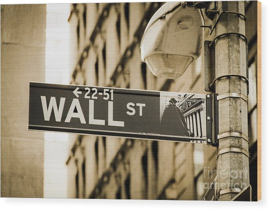 Wood Print featuring the photograph Wall Street by Juergen Held