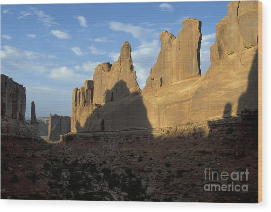 Walls Of Broadway Wood Print by Stan and Anne Foster