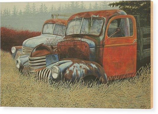 Wally And Bill Wood Print